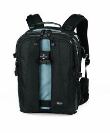 """Lowepro Vertex 200 AW Photo/ 15.4"""" Notebook Backpack For Digital SLR & 4-6 Lenses - Black (new)"""