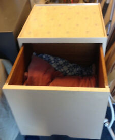 storage vintage box seat stool ottoman with a drawer sofa coffee table Multiple use