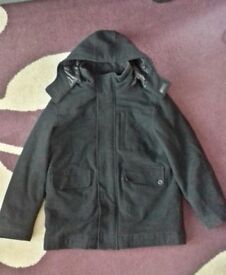 Boys Black Wool Blend Coat - Age 11-12 years