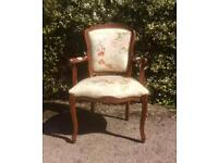 French Vintage Style Salon Hall Bedroom Chair
