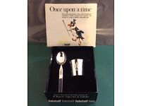 Vintage Falstaff, Childrens Series, Once Upon a Time, Silver Plated, Eggcup & Spoon Set+ Box