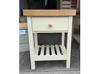 Solid Pine Butchers Block with Thick Oak Top Can be painted to colour of your choice