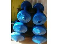 10lb Dumbell set and rack