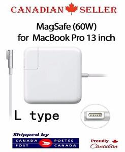 "60W L Type Magsafe Power Adapter Macbook pro 13"" A1184 A1330 A1344 A1278 A1342 A1181 (BEFORE 2012 MODEL)"
