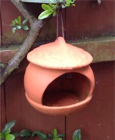High fired terracotta Bird feeder. Rrp £17.00
