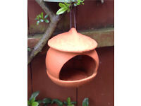 High fired terracotta Bird feeder. Rrp £17.00