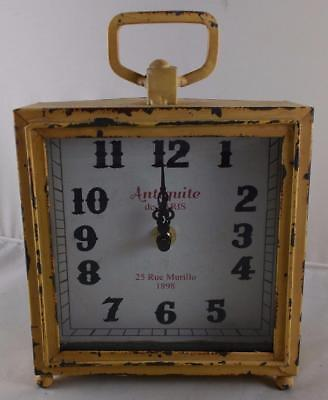 """Vintage Style Table Mantel Clock """" Antiquite de PARIS """" Distressed Antique Look for sale  Shipping to India"""