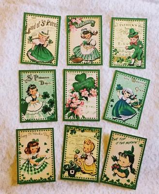 Set of 9 Cards~St. Patrick's Day~Pocket Pen Pal Cards only~No Protector~#62N