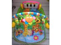 Activity Piano Jungle Playmat Musical, Educational Baby Brand New Baby gym