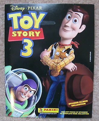 DISNEY TOY STORY 3 STICKER ALBUM BOOK & MOVIE POSTER WOODY BUZZ LIGHTYEAR - Story Sticker Book