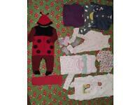 9-12 months girls clothes bundle