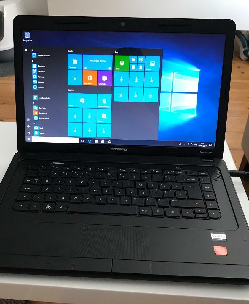 "HP COMPAQ PRESARIO CQ57 | 15 6"" WINDOWS 10 LAPTOP | 4GB | 500GB HDD | in  Romford, London | Gumtree"
