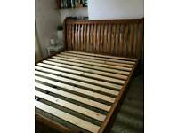 Barker and stonehouse reclaimed oak king size bed