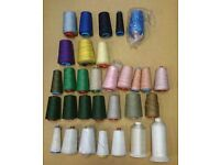 POLYESTER OVERLOCKING THREAD- SEWING - 120s - BUNDLE x31 BARGAIN!