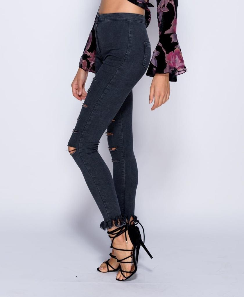 Charcoal Ripped Jeans/Jeggings
