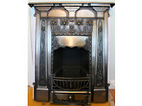 Beautiful Poppy design, Art Nouveau style fireplace in cast iron,