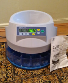 Safe Scan 1200 coin counter. Untested with coins