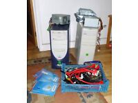 Computer Chassis with Motherboards and a job lot of spare part