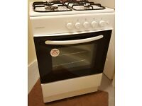 Cookworks cooker, High Level Gas Cooker with 4 Hotplate Burners in White