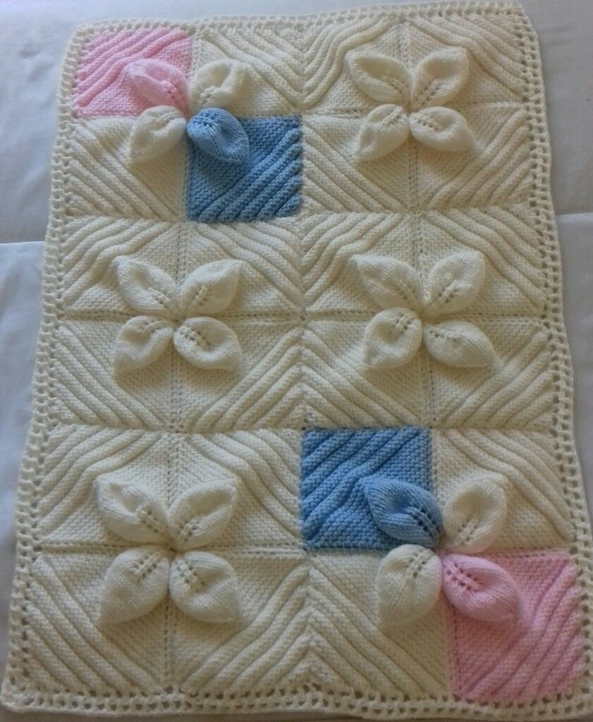 855093d77 brand new hand knitted baby aran blanket and shawl