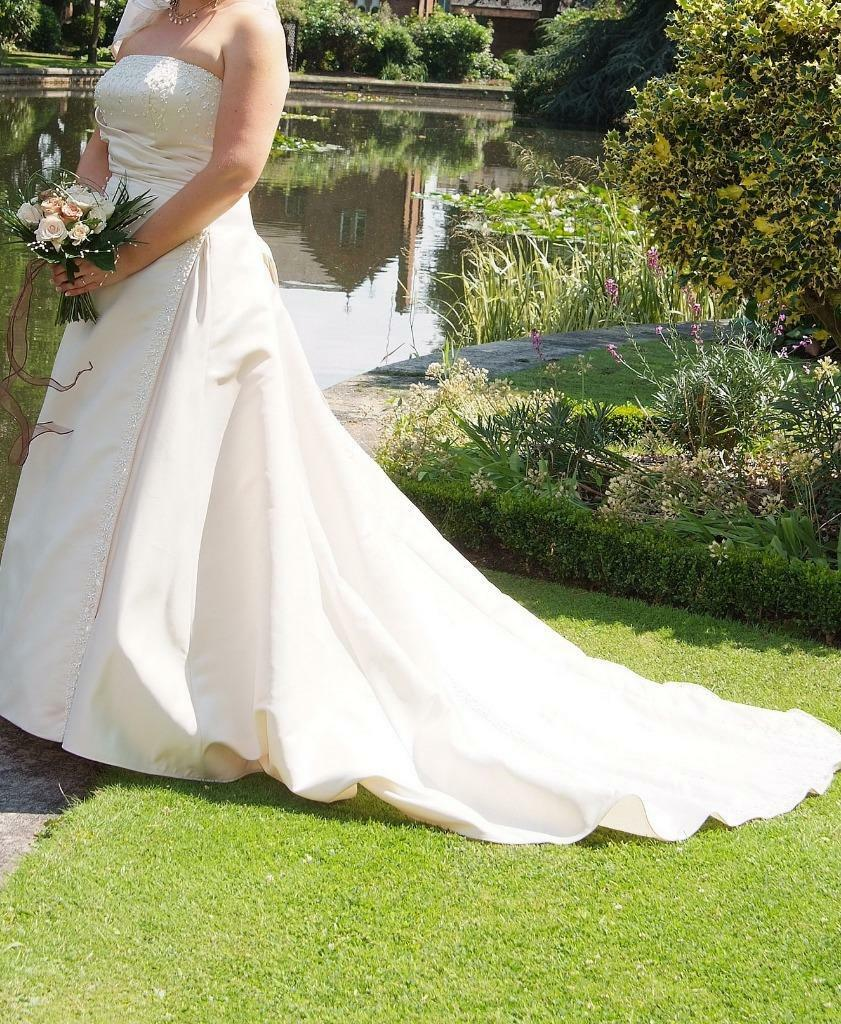 Champagne Satin Wedding Dress Size Buy Sale And Trade Ads