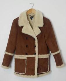 Faux shearling Topshop Winter Coat size 12