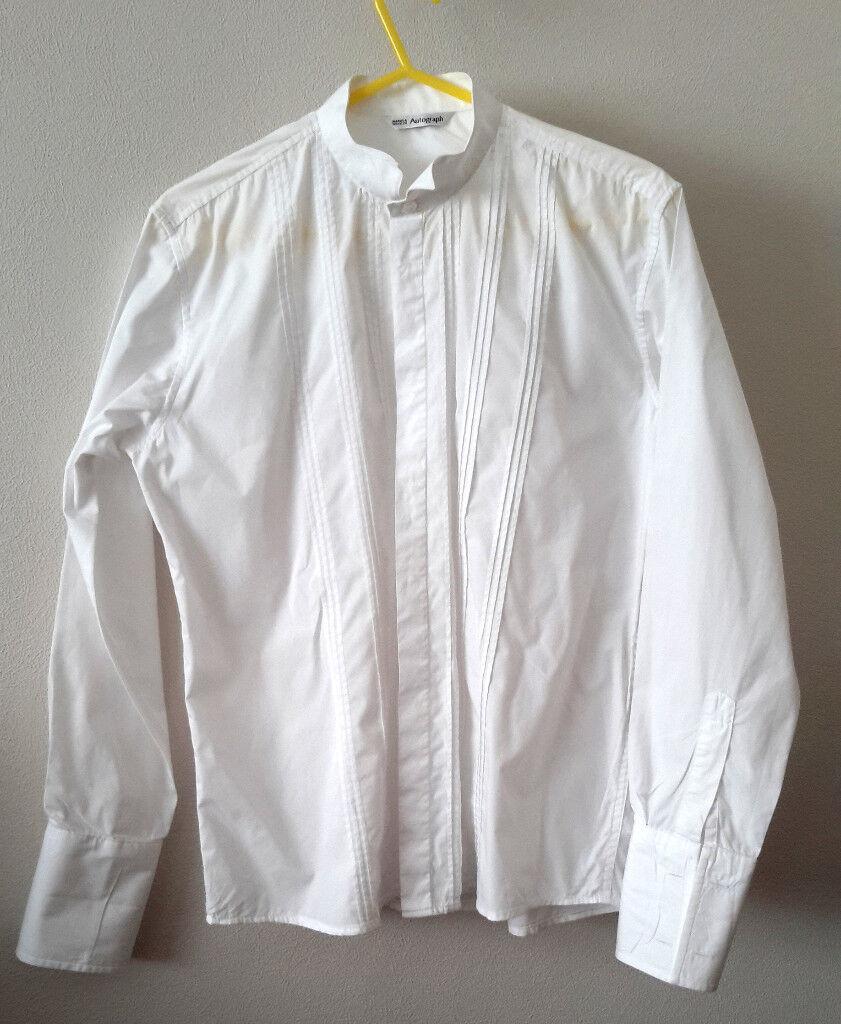 White kilt shirt M&S Autograph