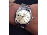 Fantastic Condition Rolex 1601 Stainless Steel Champagne Dial with Box
