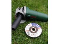 Bosch pws 650 angle grinder with 11 discs - 80 m/s. 115 x 2.5 x 22,23