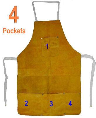 Split Leather Welding Apron Protective Clothing Carpenter Blacksmith Gardening