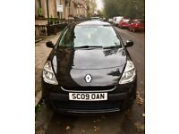 Black Renault Clio, Excellent condition, Low mileage, Full service history.