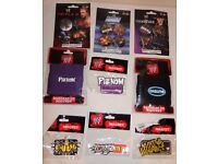 WWE Wrestling Magnets, Badges and sweat bands