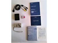 Sony Cyber-shot DSC-W50 Digital Camera; 6MP; LCD Monitor; Stills/Movie; Silver