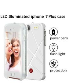 NEW: LED light up luminous selfie mobile phone case for iPhone 7 or 8 Plus