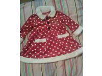 Miss santa dress.3-6m
