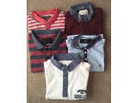 5 Men's Collared T-Shirts - Small/Medium