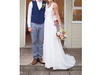 Wedding Dress Handmade Grecian Style (size 8 - 10)