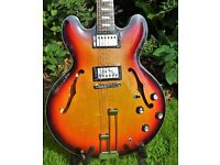 Hugely Upgraded 1997 'Peerless' Epiphone Riviera with Gibson 57's, Gibson pots, Grover deluxe tuners
