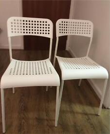IKEA white chairs