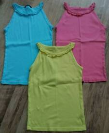3 x girls strappy tops age 13-14 yrs