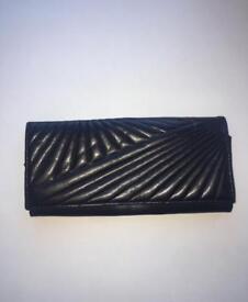 Faux leather clutch bag