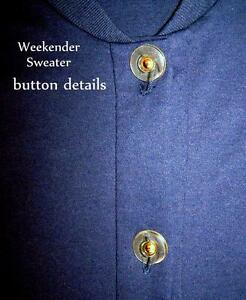 Weekender brand lady's navy blue button down sweater/cardigan