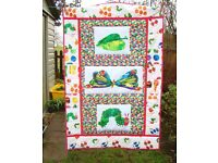 new handmade patchwork quilt/throw hungry caterpillar