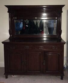 Impressive antique mahogany dresser