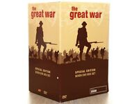 THE GREAT WAR 7 DVD BOX SET - SPECIAL EDITION - PERFECT CONDITION