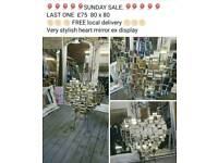 Funky all mirrored heart at sale price boxed