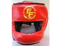 Furiousfistsuk Head-Guard Synthetic Leather Red Color