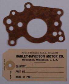 Original Harley Davidson WLA Oil Feed Gasket