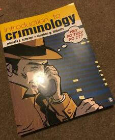 Intro to Criminology College/University Book