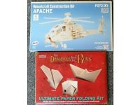 Construction Kits - Dangerous Boys Paper Folding + Apache Helicopter (Brand New)